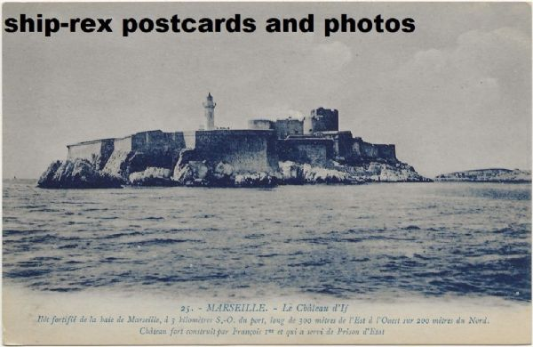 Chateau D'If, Marseille, postcard